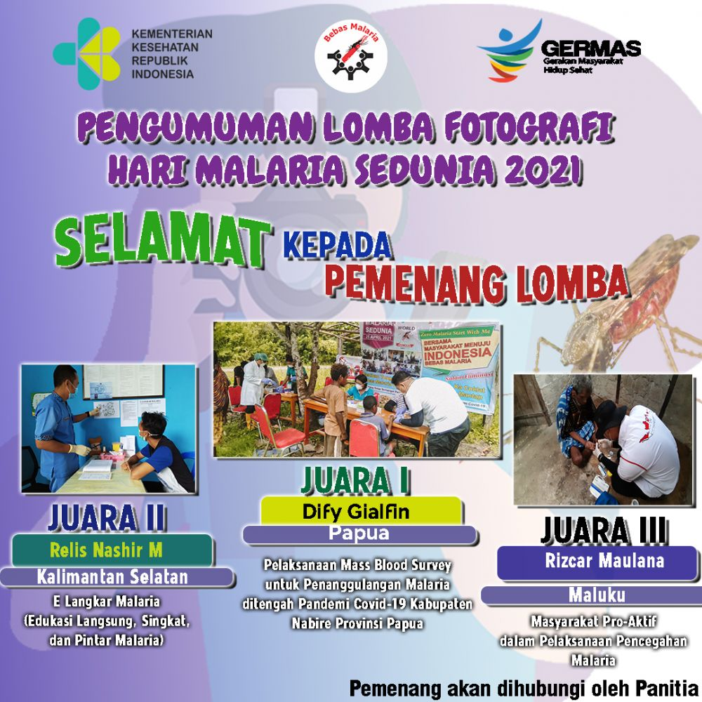Announcement of the Winners of the World Malaria Day Photography Contest