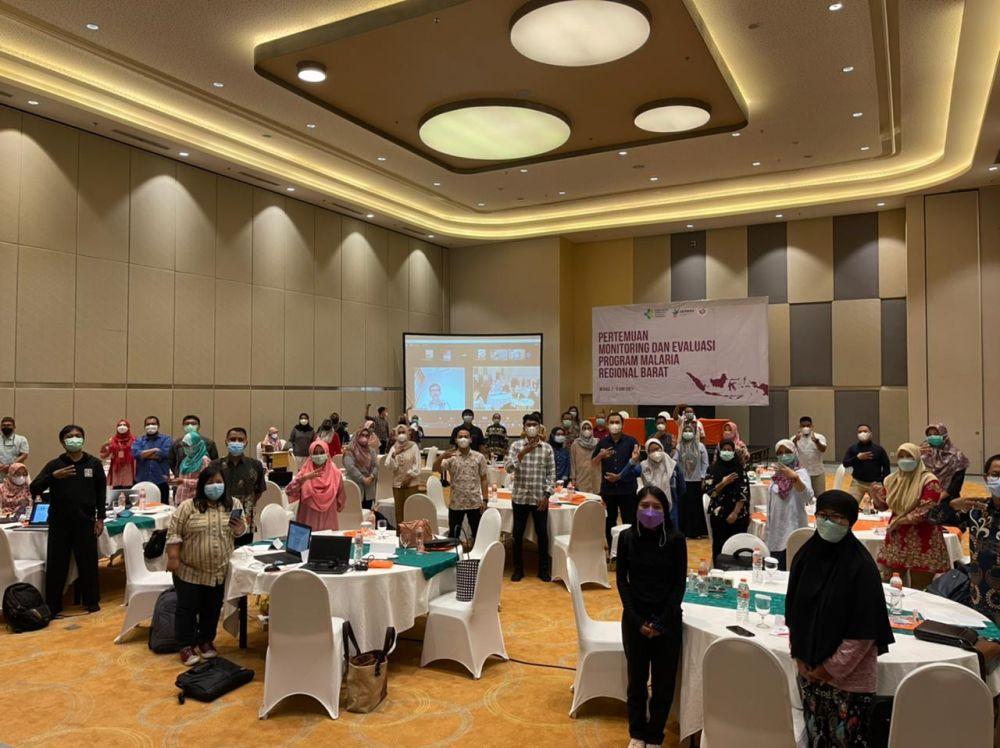 Pertemuan Monitoring dan Evaluasi Program Malaria Regional Barat 2021