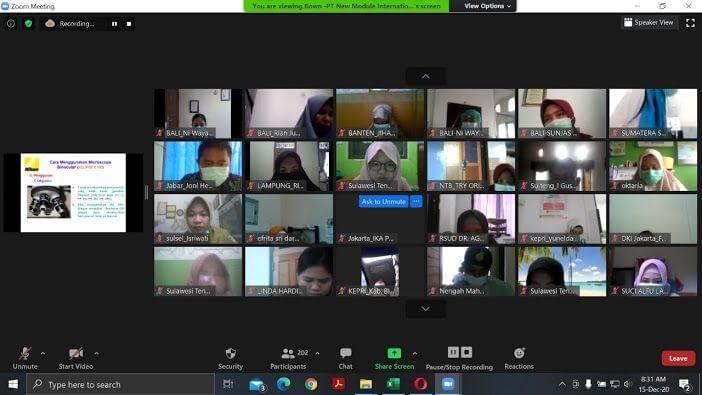 Pelatihan virtual mikroskopis malaria